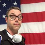 Headphones and Flag